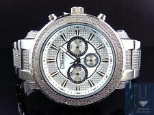Mens Jojo/Jojino XL Big Face Stainless Steel 52 MM 0.25 Ct Diamond Watch MJ-1212