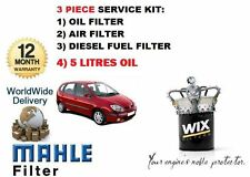 FOR RENAULT MEGANE SCENIC 1.9 DCi 00-2003 SERVICE OIL AIR FUEL FILTER SET + OIL