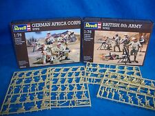 REVELL WWII Toy Soldiers, Afrika Korp + 8th Army complete sets 1/76 scale MIB