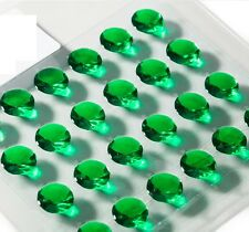 Pack of 64 Emerald Green Diamond 10mm Edible Jelly Gems