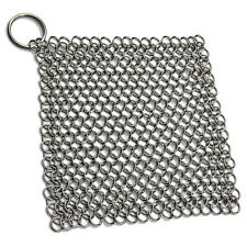 Medieval Chainmail Cast Iron Pan Dutch Oven Scouring Scrubber Pot Holder Trivet