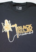Black Majic Movement, Music Microphone black t-shirt HIP-HOP / ROCK, NWT Sz.XL