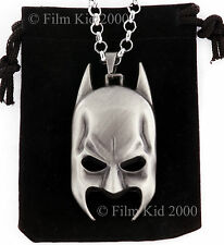 BATMAN MASK FACE Necklace Chain Pendant Dark Knight Superhero COMICS SILVER
