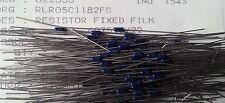 100pcs Vishay rlr05c1182fs 11.8k ohm 1% 1/8w SPEC. Militare film metallico Resistenze