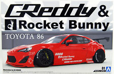 AOSHIMA 1/24 SCALE GREDDY ROCKET BUNNY TOYOTA GT86 PLASTIC MODEL KIT *UK