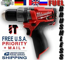 NEW Milwaukee FUEL M12 Brushless HAMMER Drill 2404-20, 12v Uses 48-11-2440 &More