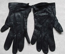 VINTAGE WOMENS LEATHER DRIVING GLOVES 1960'S 1970'S RETRO NAVY SIZE 7.5 LARGE