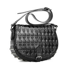 Fashion Woman Punk Skull Rivet Handbag PU Leather Clutch Shoulder Bag Satchel