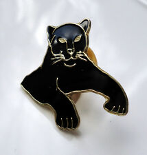ZP288 Black Panther Cat Enamel Lapel Pin Badge Brooch