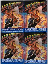 Topps Last Action Hero. Four Unopened,Sealed Wax Packs 1993