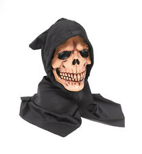 Hooded Skull Mask Grim Reaper Skeleton Scary Skull Ghost Halloween Fancy Dress