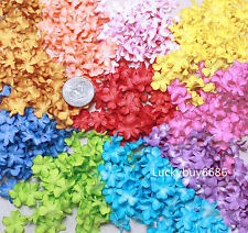 100 Mix Color 20mm Scrapbook Craft Mulberry Paper Flower Artificial Wedding Card