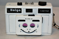 White Holga 135TIM 35mm Twin Images Maker Stereo Camera w/ Strap