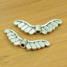 15pc Retro Tibetan Silver Angel wings Spacer Bead Jewellery Accessories PY684
