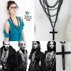 New 1PC Retro Fashion Vintage Cross Pendant Long Chain Necklace Free shipping