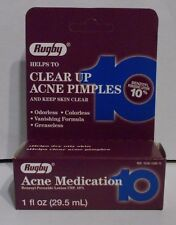 Rugby Benzoyl Peroxide Acne Lotion 10% 1oz Bottle -FREE WORLDWIDE SHIPPING-