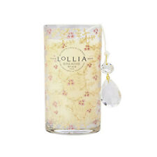 Lollia Breathe Petite Candle Luminary Pillar scented with Peony & White Lily