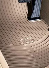 BMW 3 Series E90 All-Weather Rubber Floor Mats -- FRONT Beige 82112318677