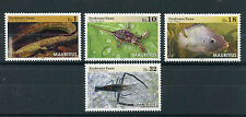Mauritius 2016 MNH Freshwater Fauna 4v Set Nile Tilapia Eels Fish Fishes Stamps