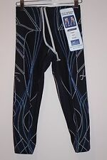 CW-X 3/4 Revolution Tights Running Women BLACK/BLUELINE XS  XSMALL  128806   NEW