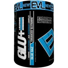 EVL Nutrition GLU+ Blue Raz  - Enhanced Glutamine Supplement (45 Servings)