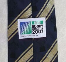 RUGBY WORLD CUP TIE 2007 NAVY GOLD STRIPED SPORT 2000s