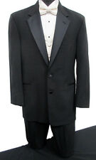 Black Perry Ellis 2 Button Tuxedo Package Wedding Prom Formal Free Shipping! 42R