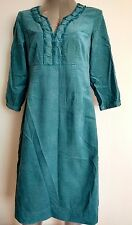 £114 BODEN casual dress size 10L knee length moleskin velvet --VGC--