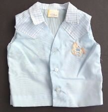 Vtg 1970's Boys BUTTON UP Cowboy Vest Doll Play Clothes / Clothing