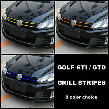 VW Volkswagen Golf Front Grill Stripes Decal Graphics Mk6 6 VI GTI GTD R Line
