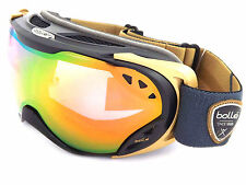 BOLLE Womens DUCHESS Ski Snowboarding Goggles Black Gold /Rose Gold Mirror 21462