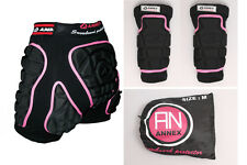 NWT Snowboard Ski Protection Mens Protective Guard Set Hip+Knee Pad Size Pink M