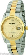 REGINALD TWO 2 TONE STAINLESS STEEL,GOLD DIAL,WATERPROOF+DATE CLASSIC MEN WATCH