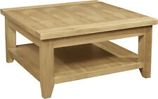 Roma solid oak living room lounge furniture square coffee table