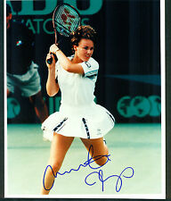 Martina Hingis Signed 8x10 Color Tennis Photo Former #1 World Champion COA