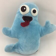 STARBUCKS Blue Ghost Plush Stuffed Animal Toy Tongue 2006 Halloween Bean Bag 8""