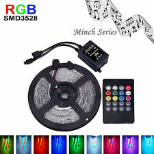 2017 NEW 5M 3528RGB LED Strip Flexible Light DC12V+Music IR Remote Controller