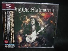 YNGWIE MALMSTEEN World On Fire JAPAN CD Alcatrazz Steeler NZM Hear 'N Aid