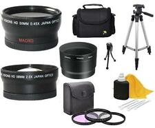 7PC Accessory Kit (Wide Tele Filters Tripod) for Fuji Finepix S7000 6900 S602
