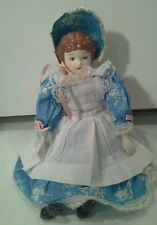 """13"""" China Head Doll, Porcelain head, hands and legs, cloth body"""