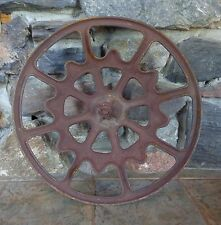 "Vintage Salvage Railroad Train Car Cast Iron Ajax Hand Brake Wheel 22"" Dia"