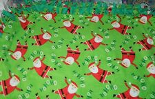 HANDMADE Large 48x60 DOUBLE LAYER No Sew Fleece Blanket Throw* HO HO HO SANTA