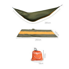 Travel Camping Outdoor Nylon Fabric Hammock Parachute Sleep For 2 Person Brown