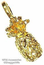 Pineapple Charm Pendant EP 24k Gold Plated Jewelry with a Lifetime Guarantee!