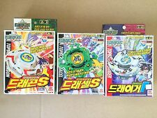 Lot Of 3pcs Beyblade A1 A4 A31 Driger F Spin Gear System Topblade With Launcher