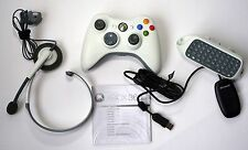 Pack Microsoft XBOX 360 Mando Wireless, headset, teclado, adaptador USB para PC