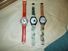 3 vintage snap watches good condition need batteries