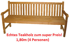 180 cm Edelstahl Teak Teakholz Bank Agrade 180cm Gartenbank Teakholzbank