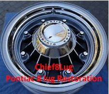 1960 TO 1968 RESTORED, RELINED,SHOW QUALITY PONTIAC 8 LUG DRUMS & WHEELS
