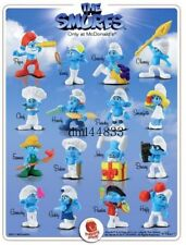 2011 McDonalds Smurfs MIP Complete Set - Lot of 16, Boys & Girls, 3+